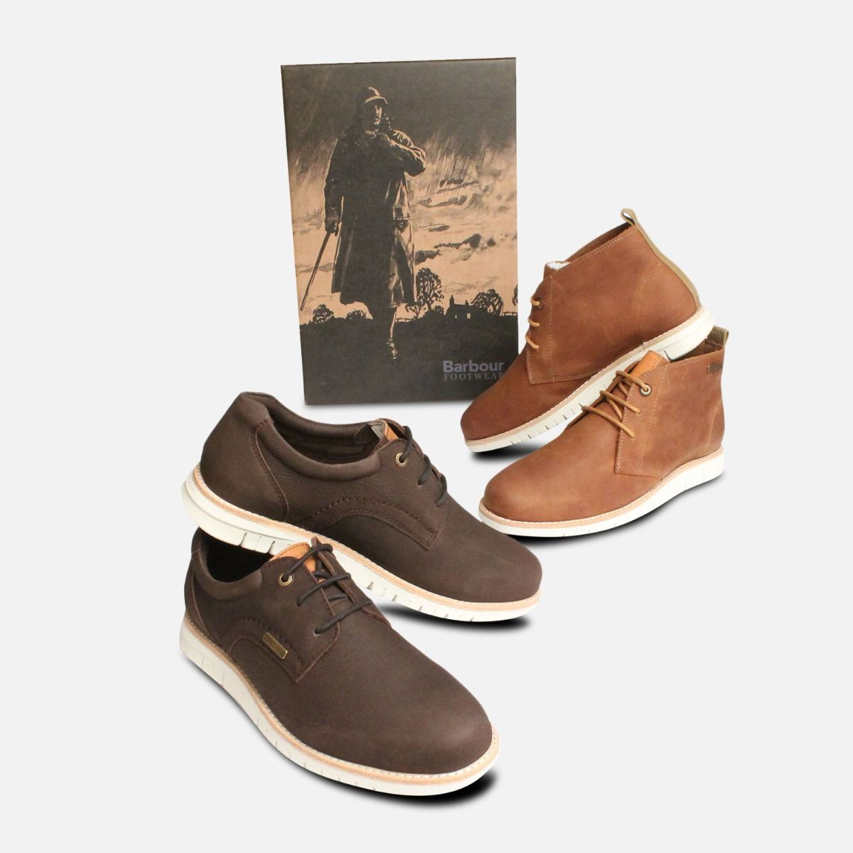 Barbour Mens Shackleton Casual Boots in Brown