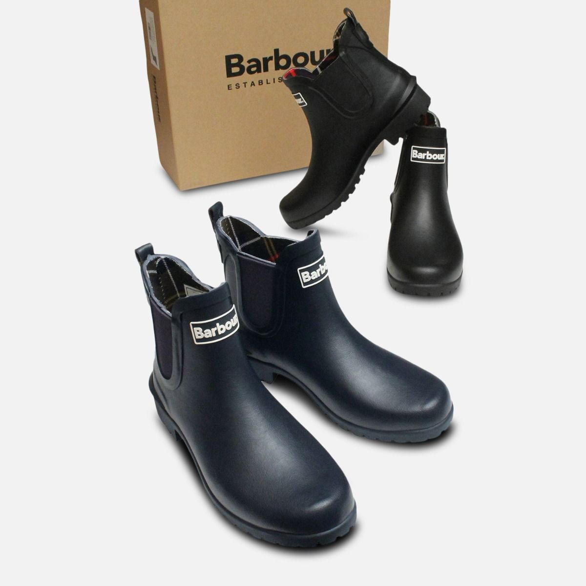 Barbour Ladies Wilton Chelsea Boot Wellies in Black
