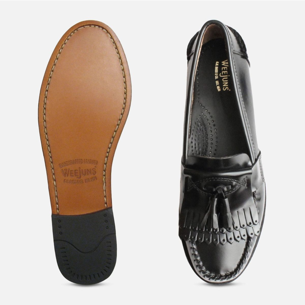 c211338a61b52 Ladies Black Double Fringe Tassel Elspeth Loafers