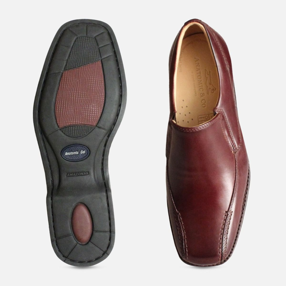 Burgundy Belem Loafers by Anatomic & Co Shoes