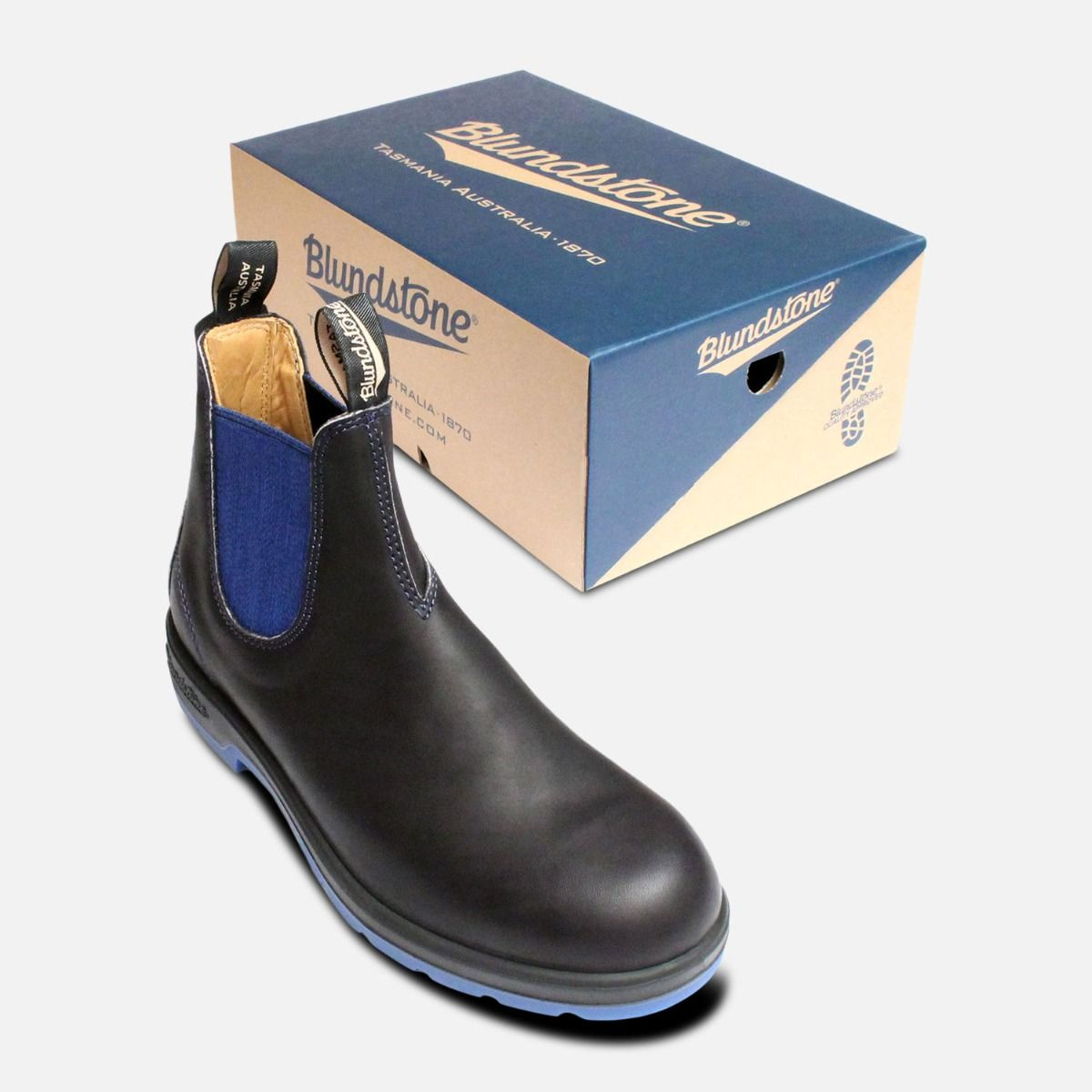 Black & Blue Mens Blundstone Chelsea Boots