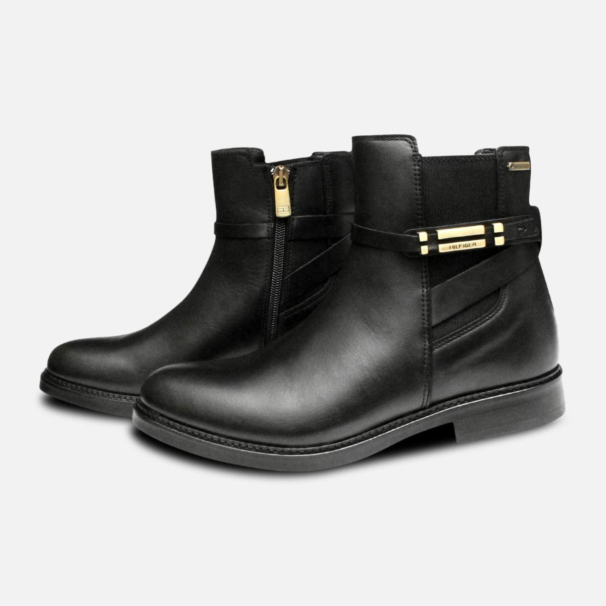 c43ec2fe5f7 Waterproof Tommy Hilfiger Black Holly Chelsea Boots
