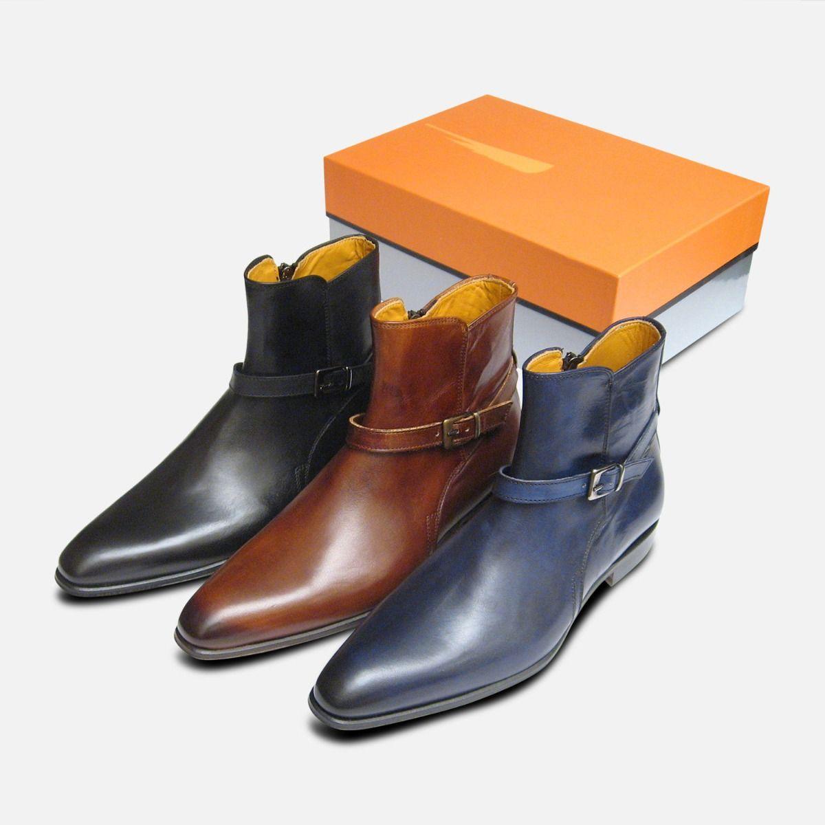 Designer Black Calf Jodhpur Zip Boots