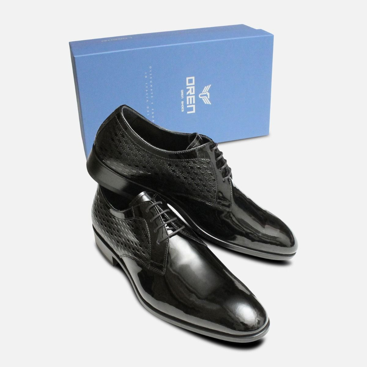 Italian Luxury Black Patent Leather Dress Shoes