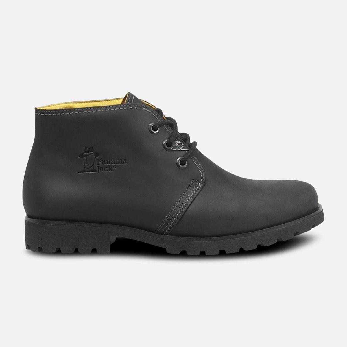 Mr Panama Jack Black Waxy Waterproof Havana Joe Chukka Boots