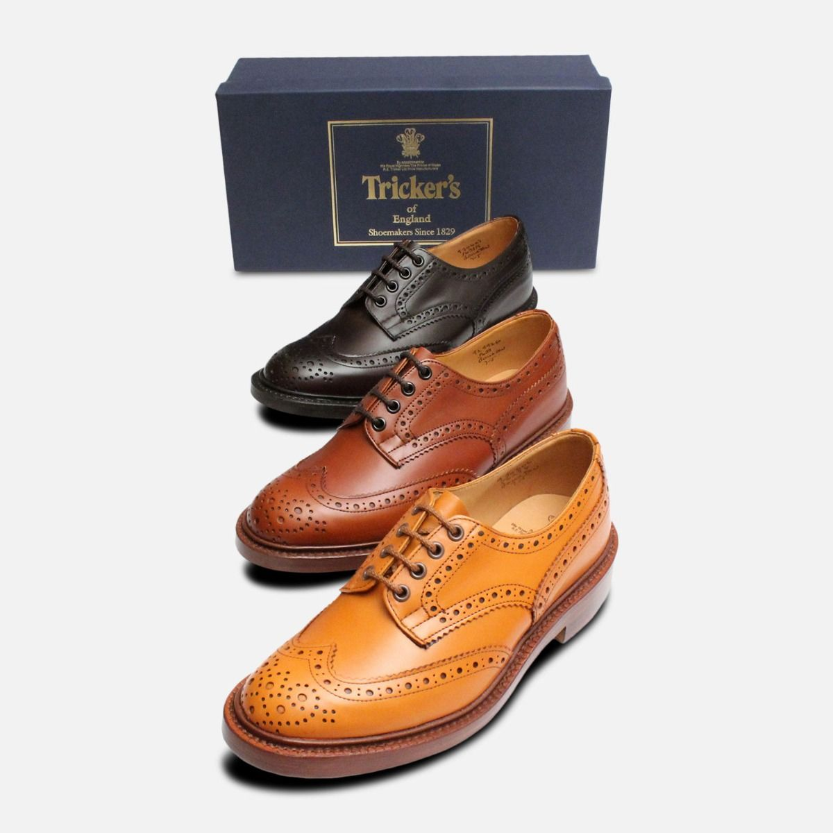 Trickers Bourton Marron Brogue Shoes