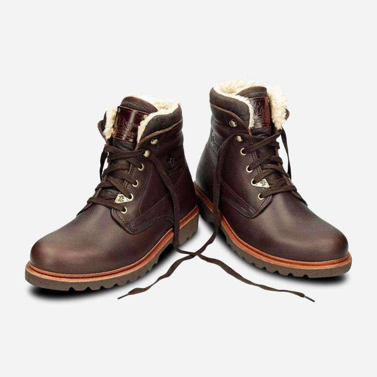 Havana Joe Mens Warm Lined Aviator Boots in Brown