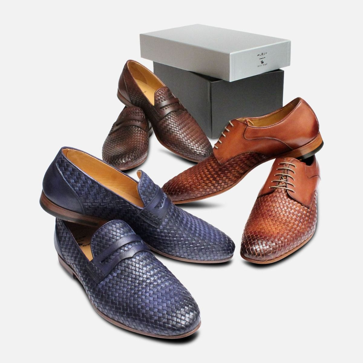Brown Mens Weave Shoes by Arthur Knight