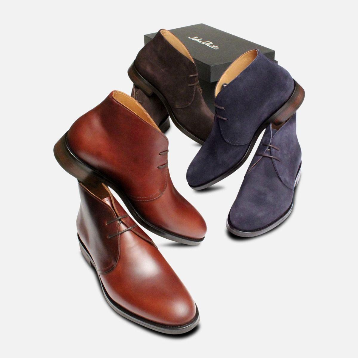 Dark Brown Suede Westbury 5 John White Mens Boots