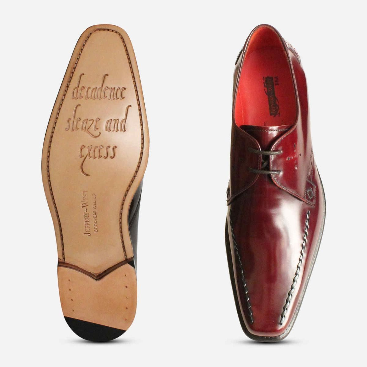 Jeffery West Dark Burgundy Formal Shoes