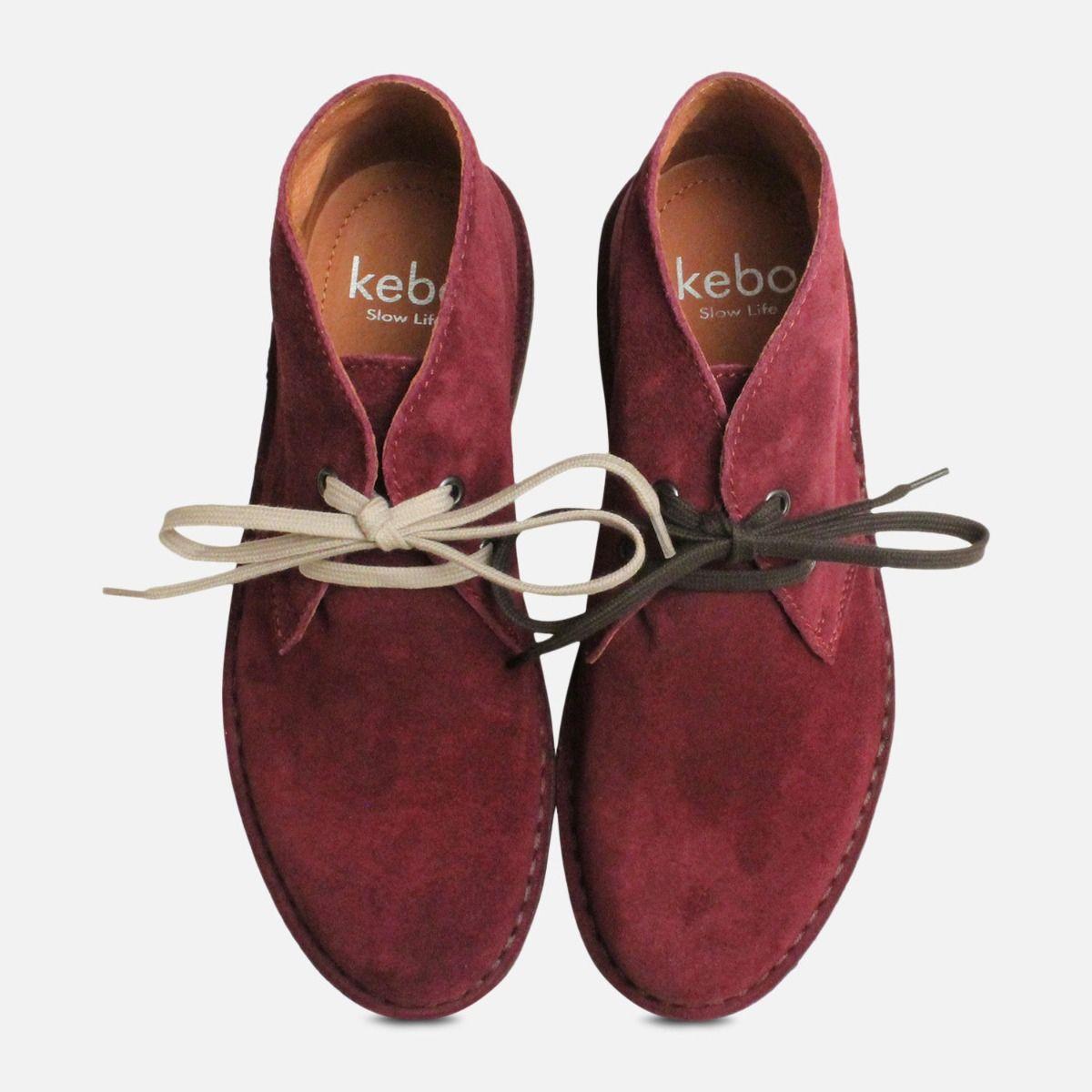 Plum Purple Suede Ladies Italian Desert Boots