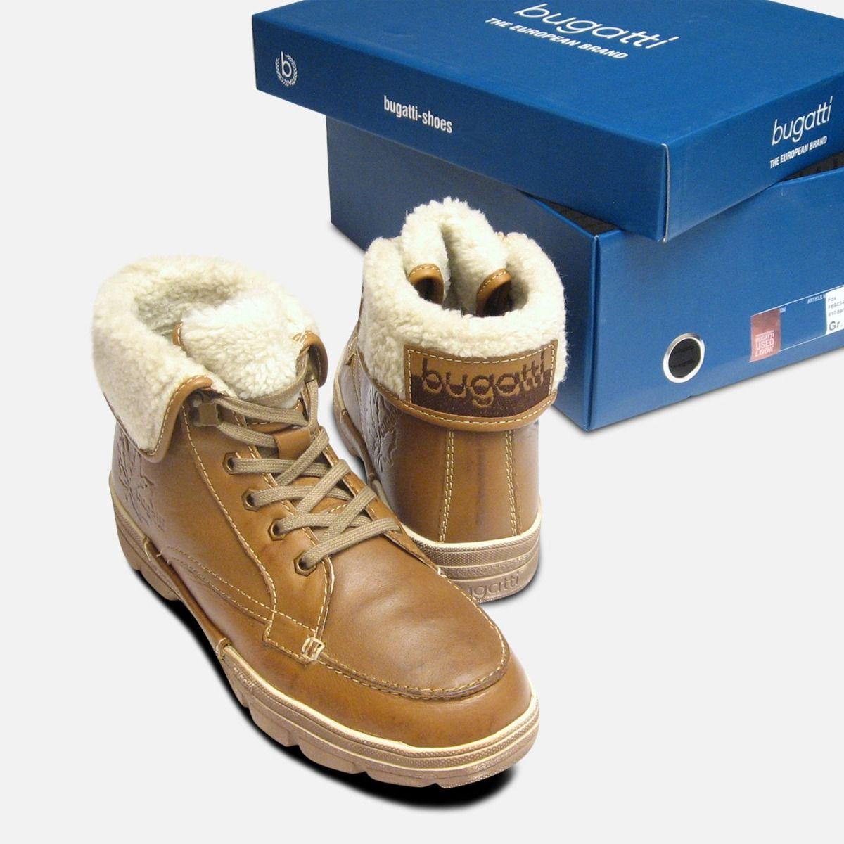 Camel Brown Warm Bugatti Mens Boots