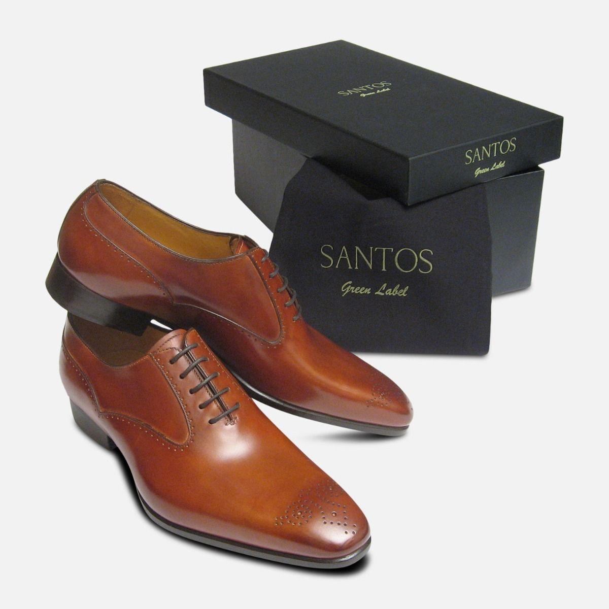 Santiago Carlos Santos Mens Shoes in Antique Tan