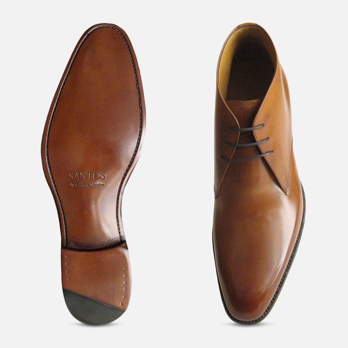 Royal Mahogany Chukka Boots Carlos Santos Shoes