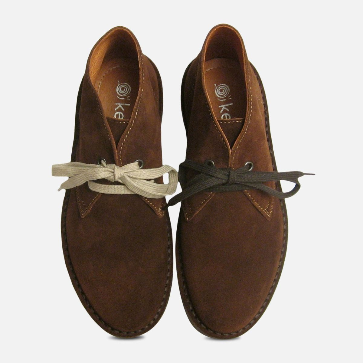 Chocolate Brown Suede Ladies Italian Desert Boots by Arthur Knight