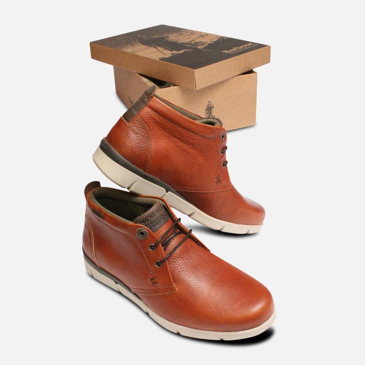 Tumble Grain Casual Mens Cognac Barbour Boots