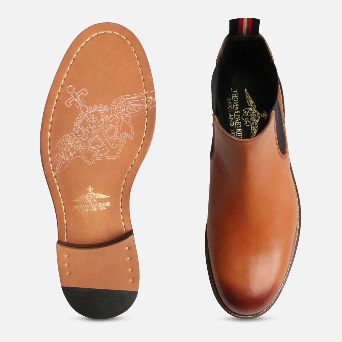 Thomas Partridge London Tan Cranwell Chelsea Boots