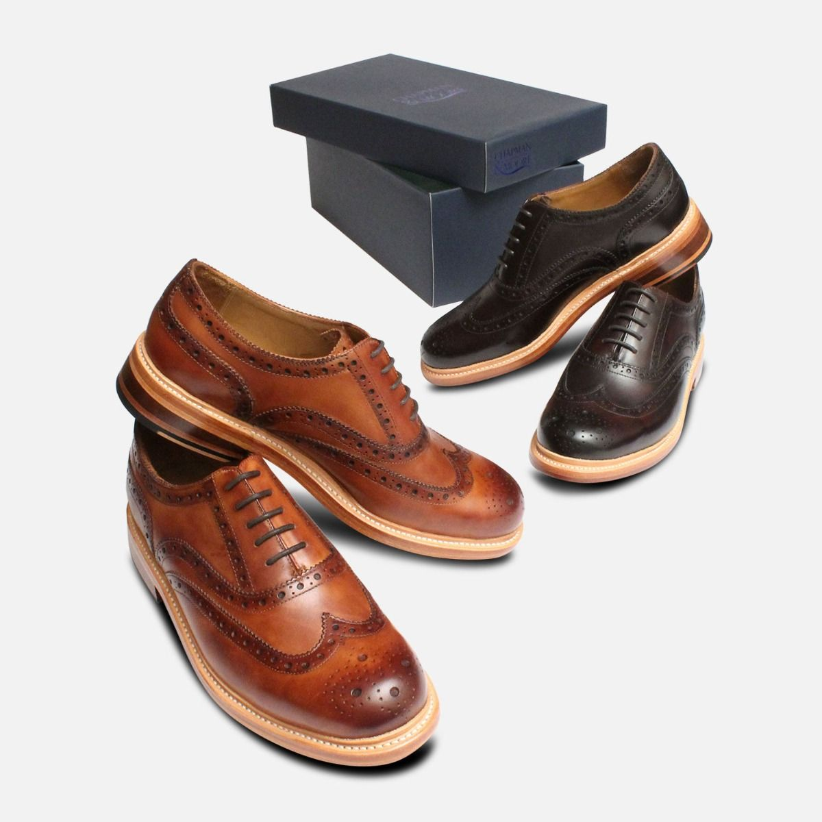 Luxury Chapman Oxford Brogues in Dark Brown