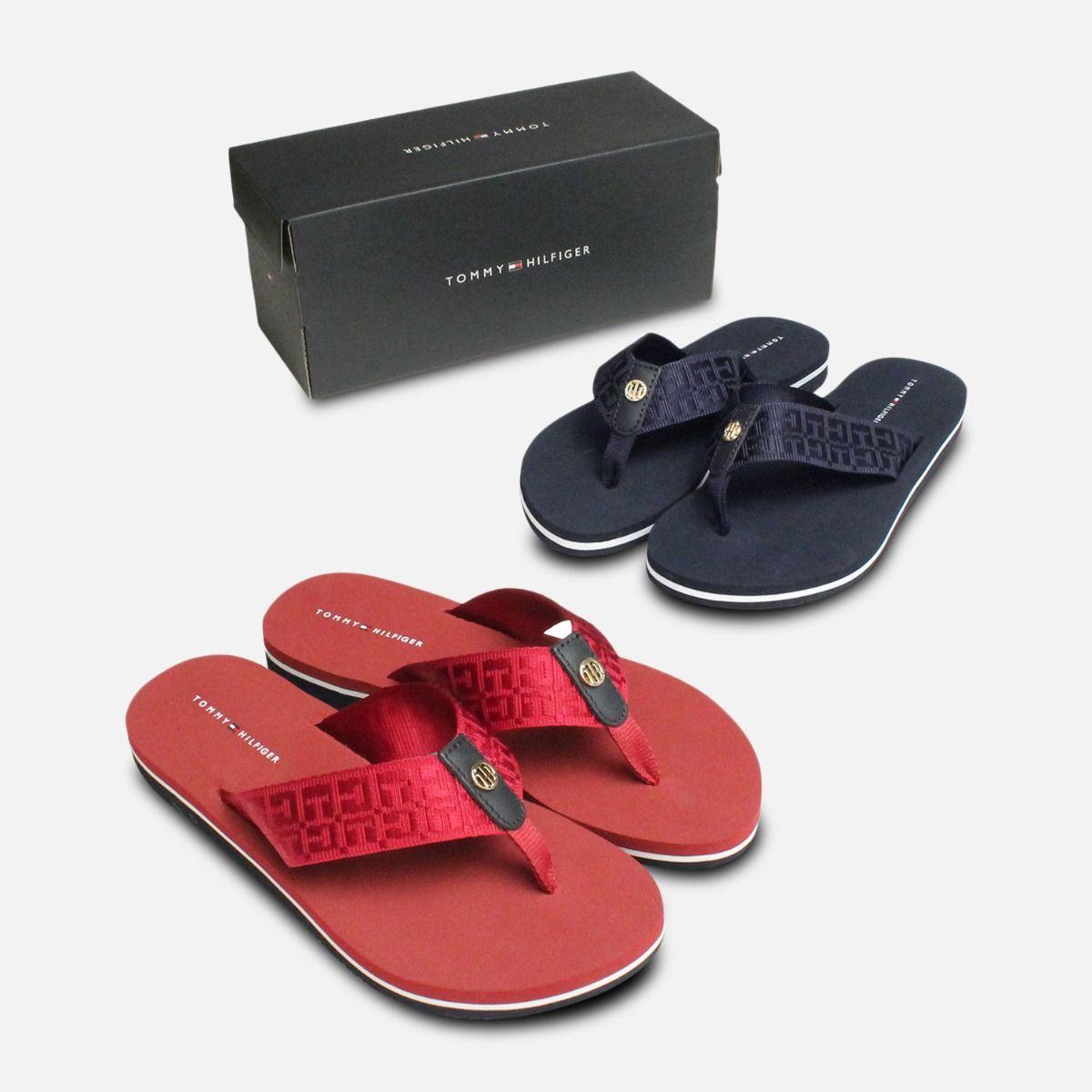 Tommy Hilfiger Burgundy Red Mellie Flip Flop Sandals