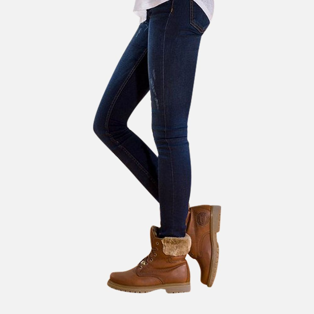 c3bed2067 Panama Jack Ladies Havana Joe Fur Collar Boots in Brown Leather