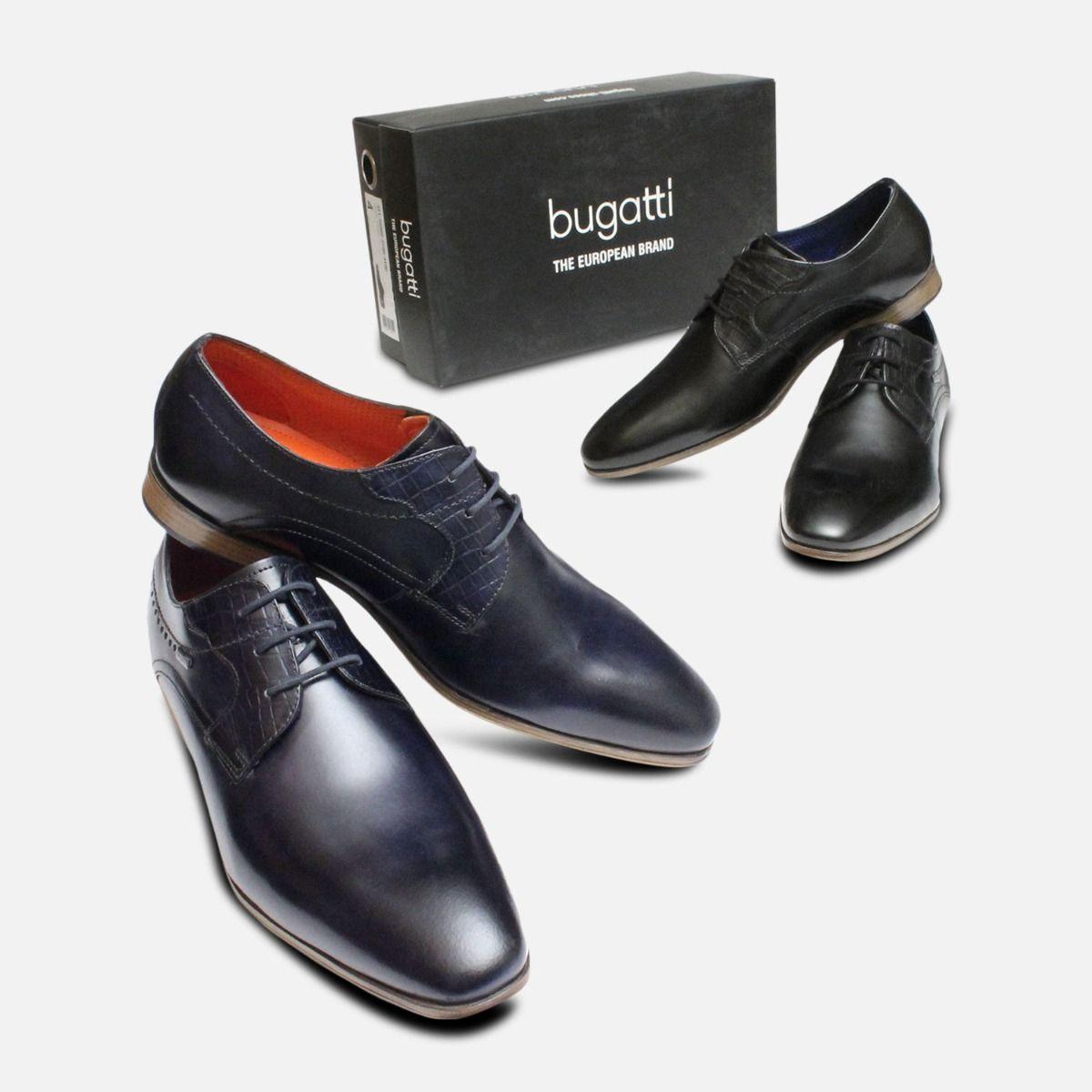 Formal Black Leather Dress Shoes by Bugatti