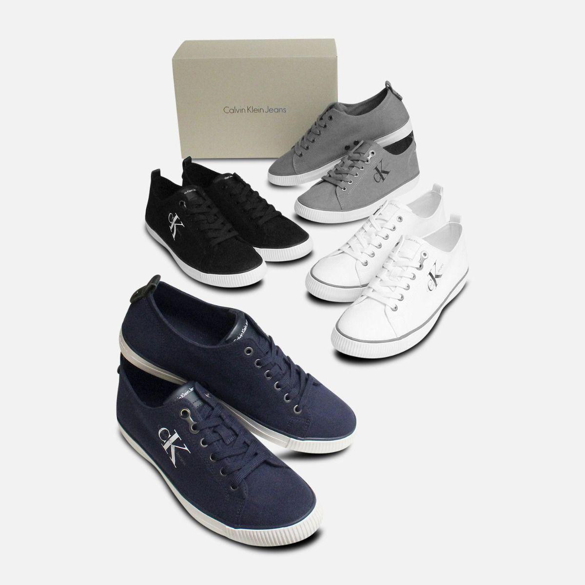 Grey Canvas Calvin Klein Arnold Mens Sneakers