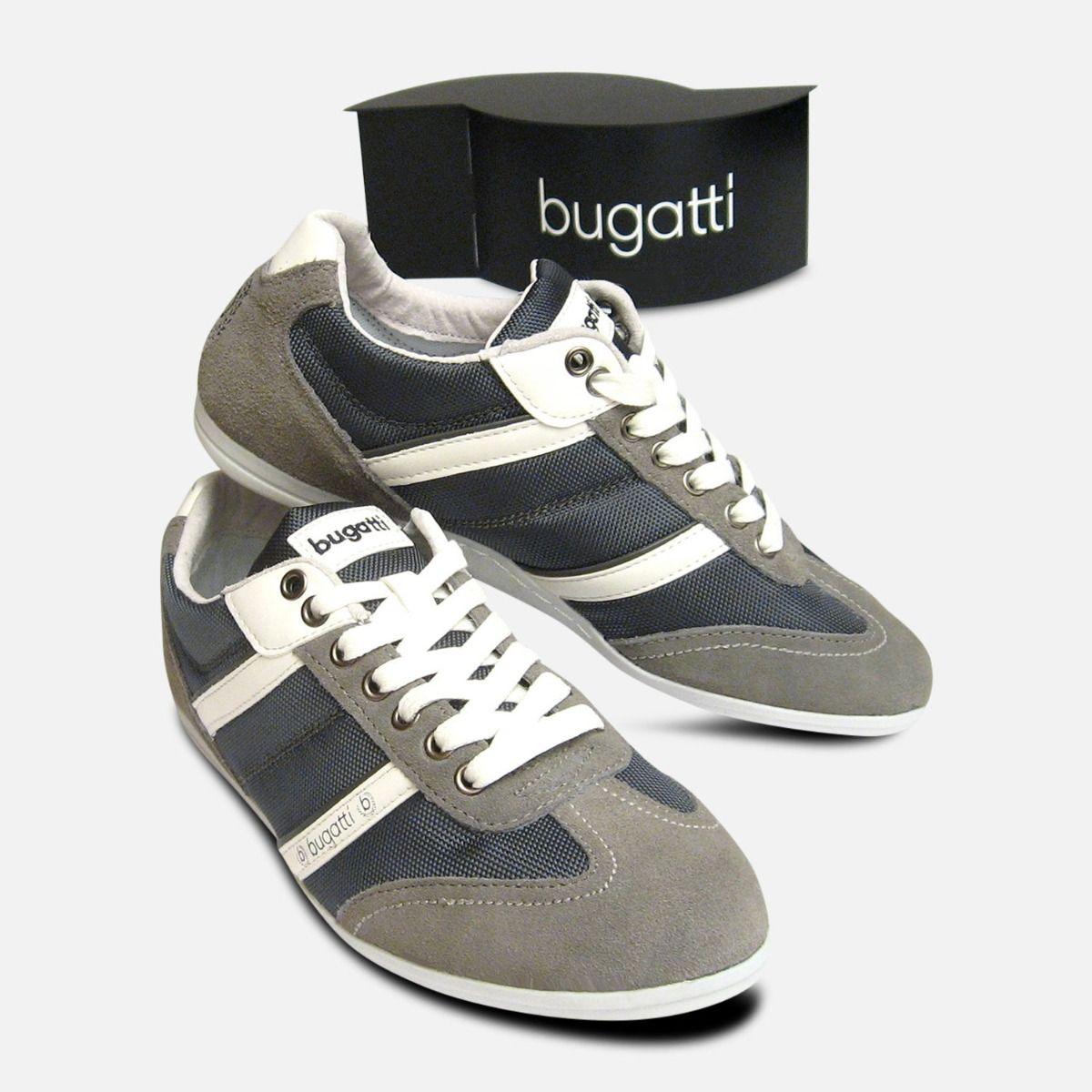 faa50bf2fcd3 Mens Bugatti Sneakers in Grey Suede Leather Designer Trainers