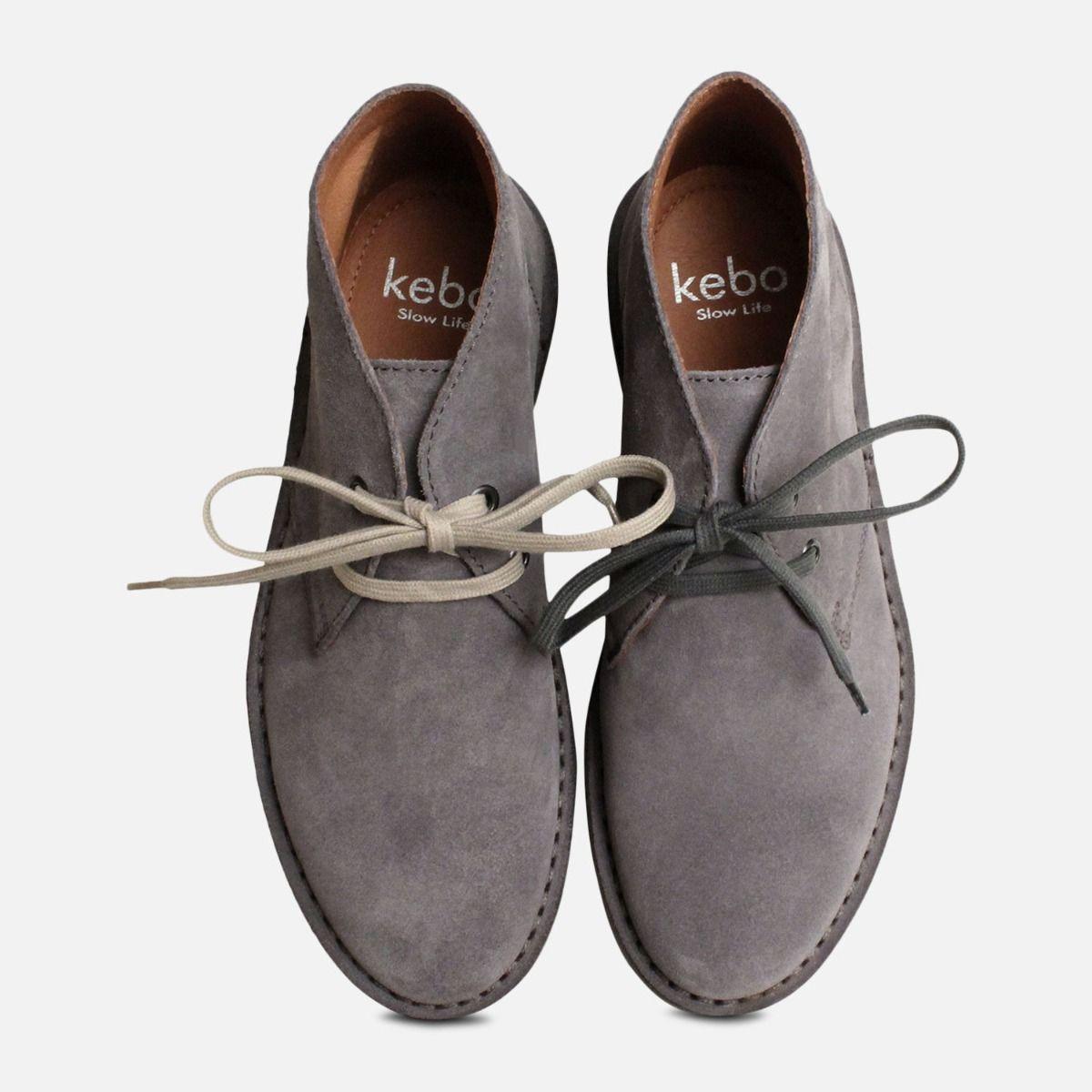 Ash Grey Italian Suede Desert Boots by Arthur Knight