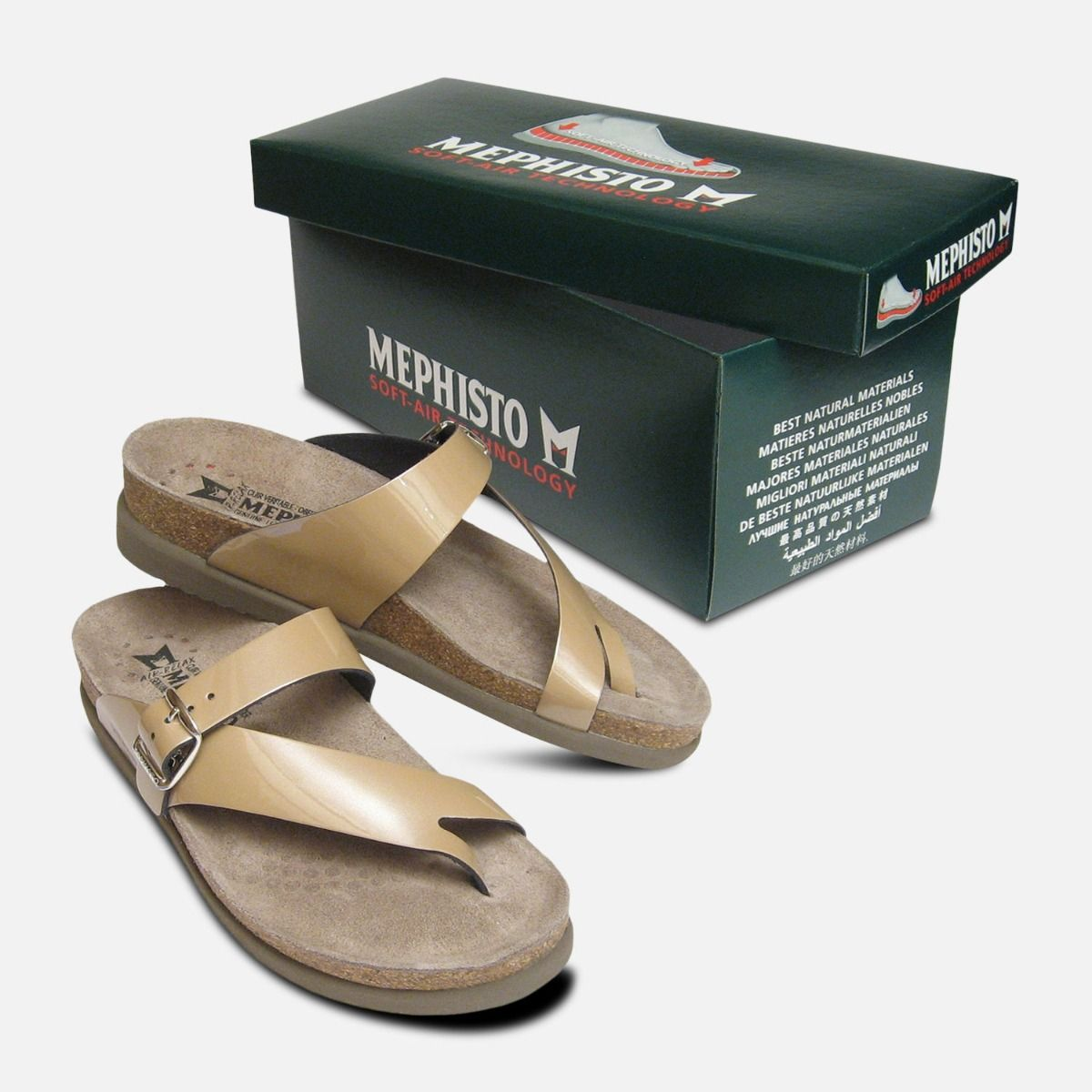 Patent Mephisto Sandals Leather Ladies Nude Helen In f6gb7myIYv