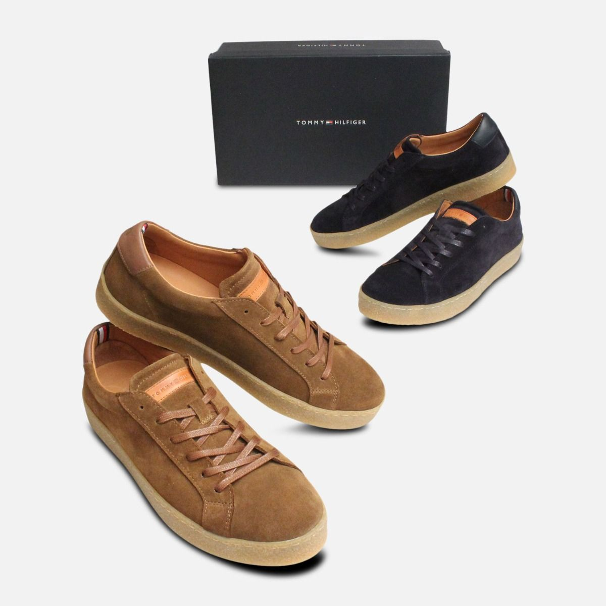 Tommy Hilfiger Luxury Tobacco Suede Cupsole Shoes