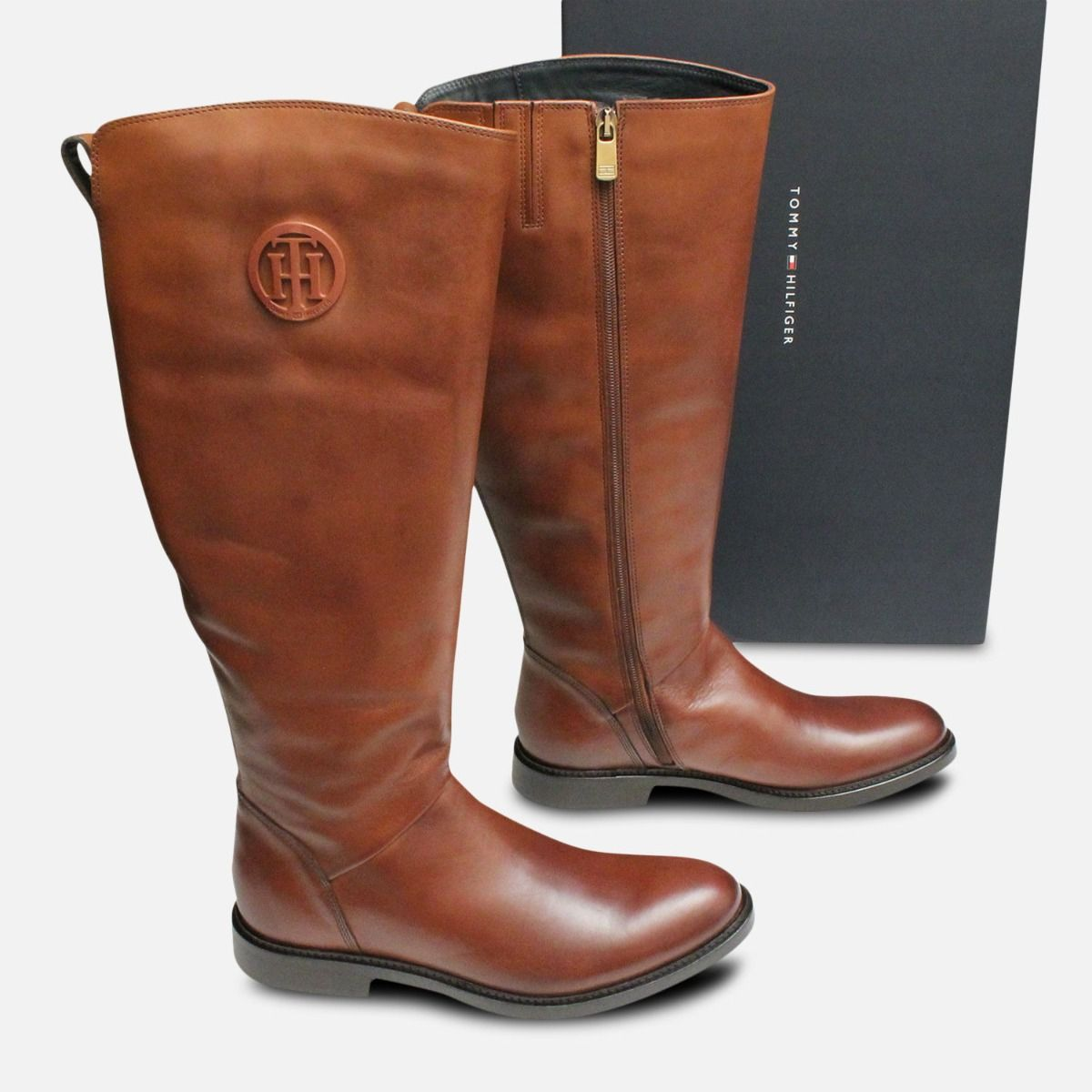 Holly by Tommy Hilfiger Tall Ladies Cognac Boots