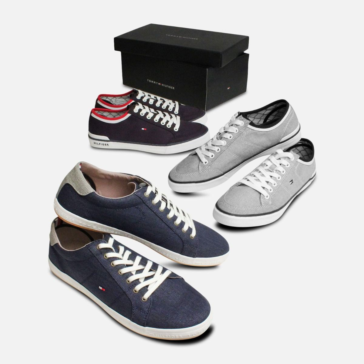 Tommy Hilfiger Howell Navy Blue Canvas Trainers