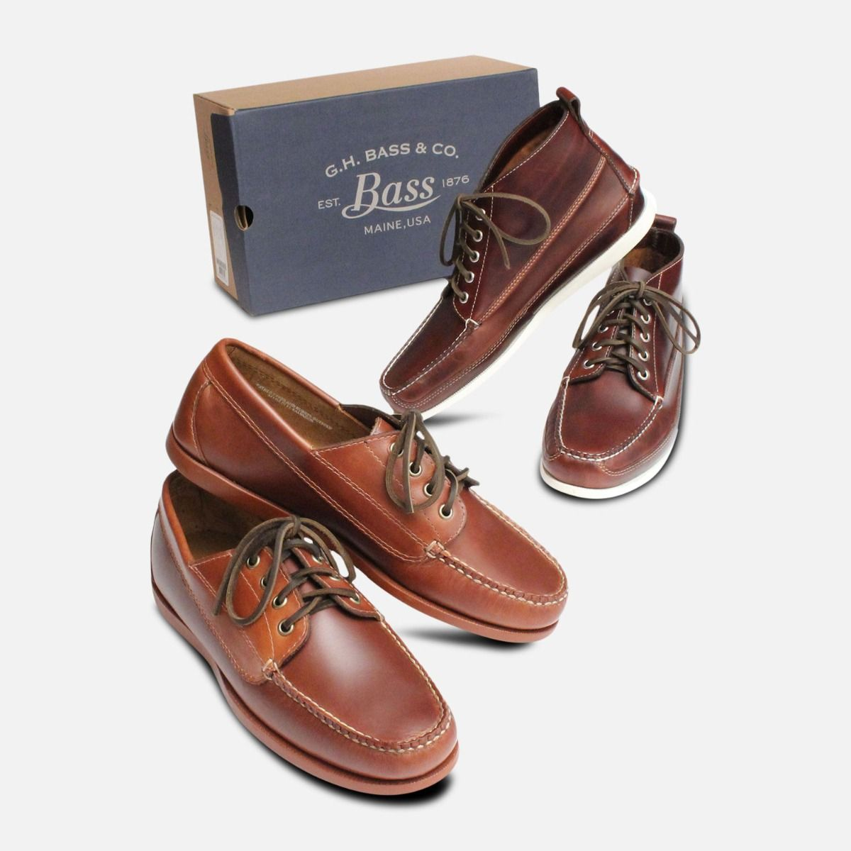 Bass Jackman Waxy Brown Pull Up Mens Boat Shoes