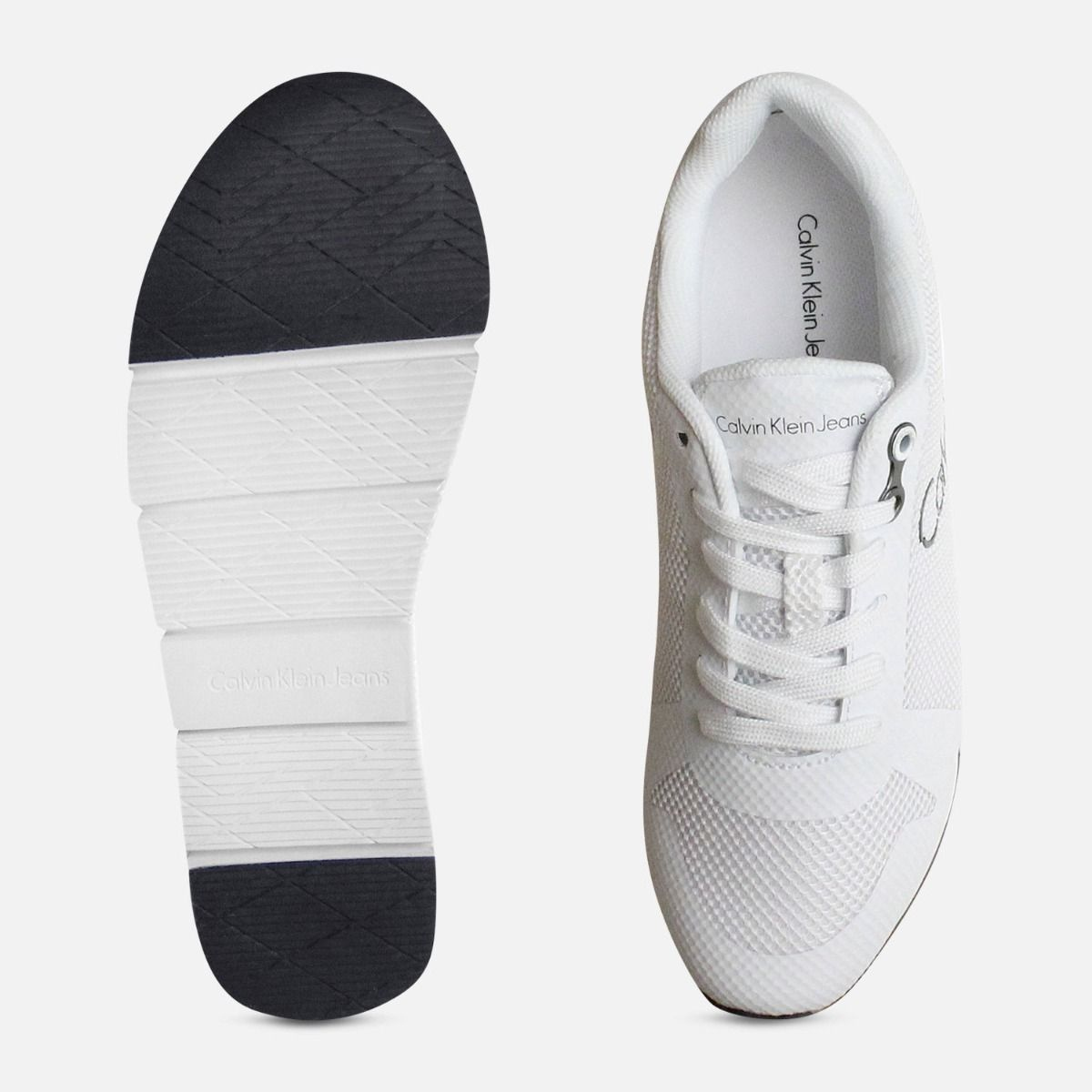 White Jacques Mesh Calvin Klein Trainers for Men