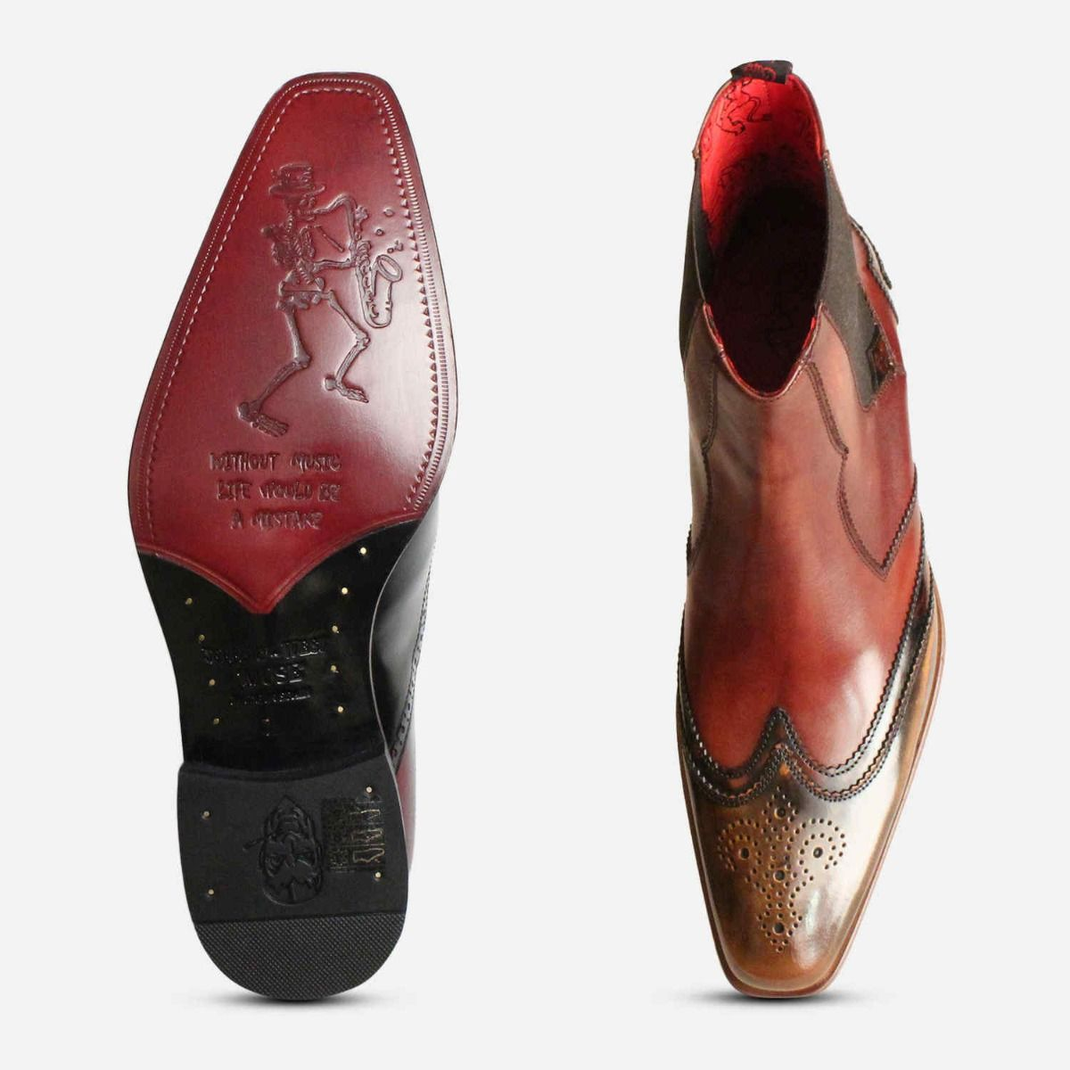 Double Wingtip Brown Jeffery West Chelsea Brogues