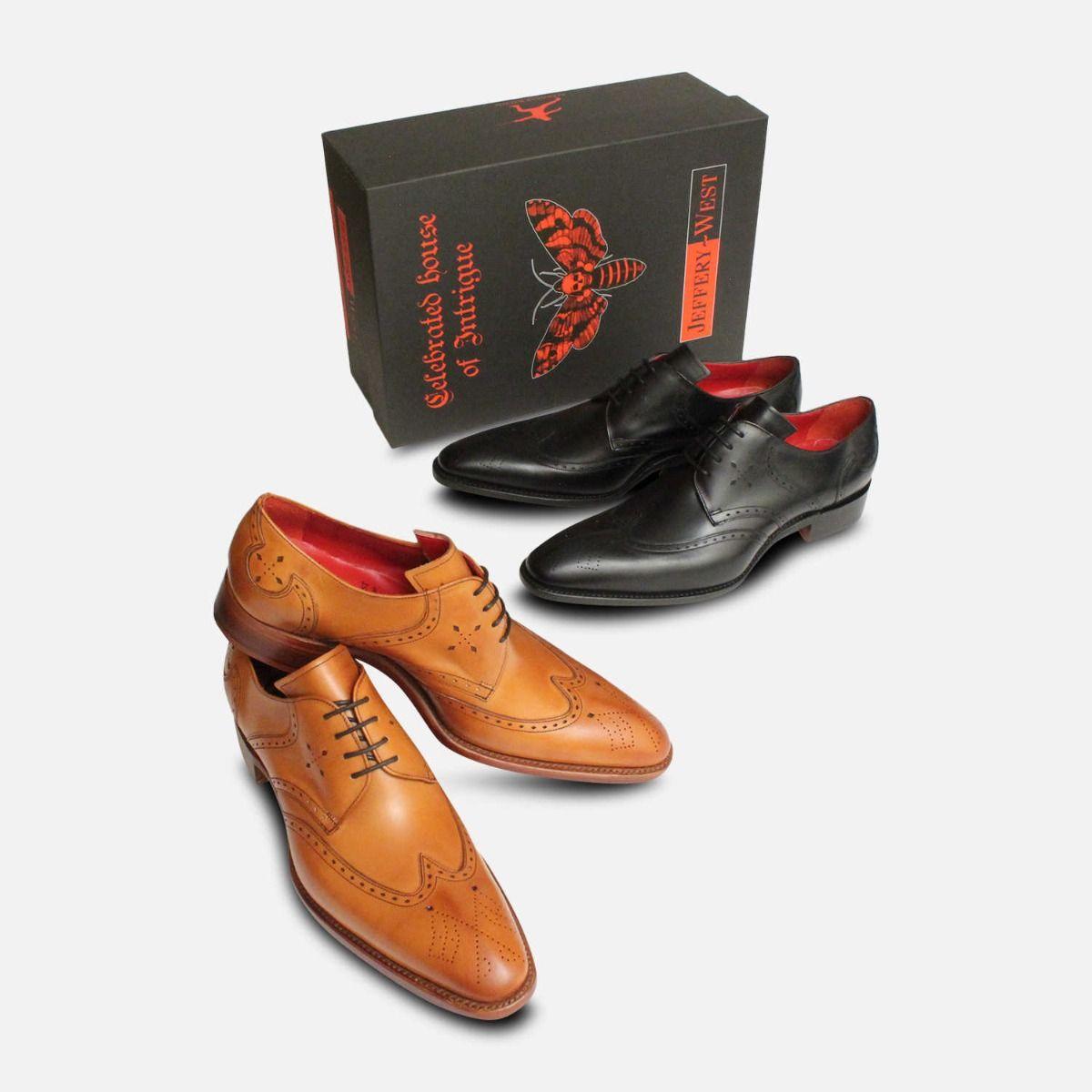 English Cedar Leather Jeffery West Premium Brogues