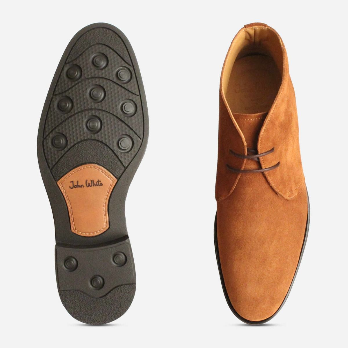 Cognac Suede Westbury 5 John White Ankle Boots