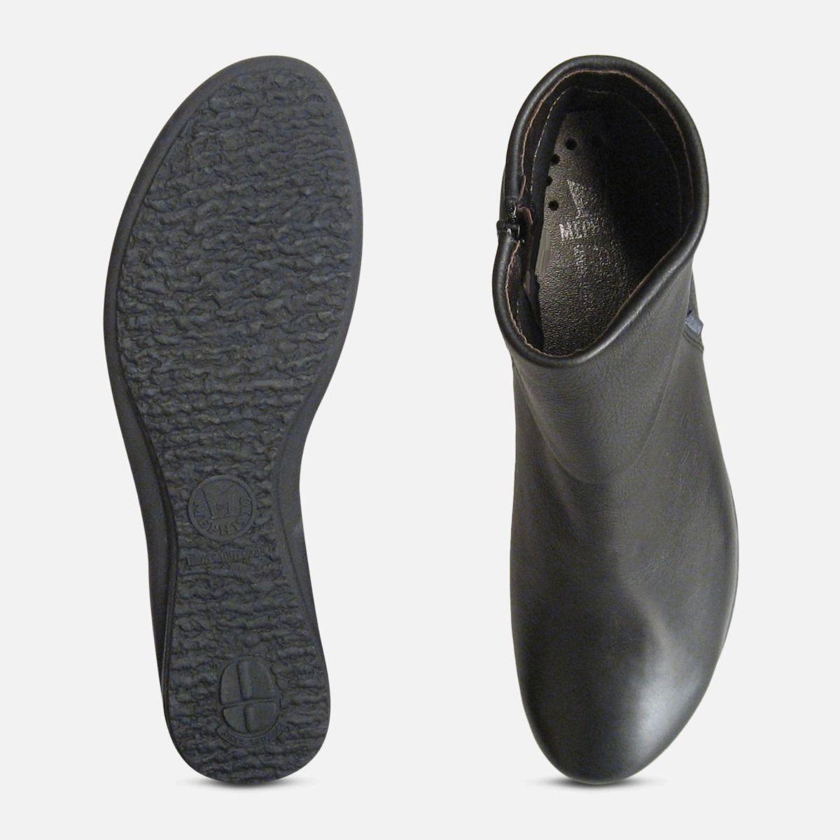 Mephisto Ladies Fiducia Black Leather Zip Boots