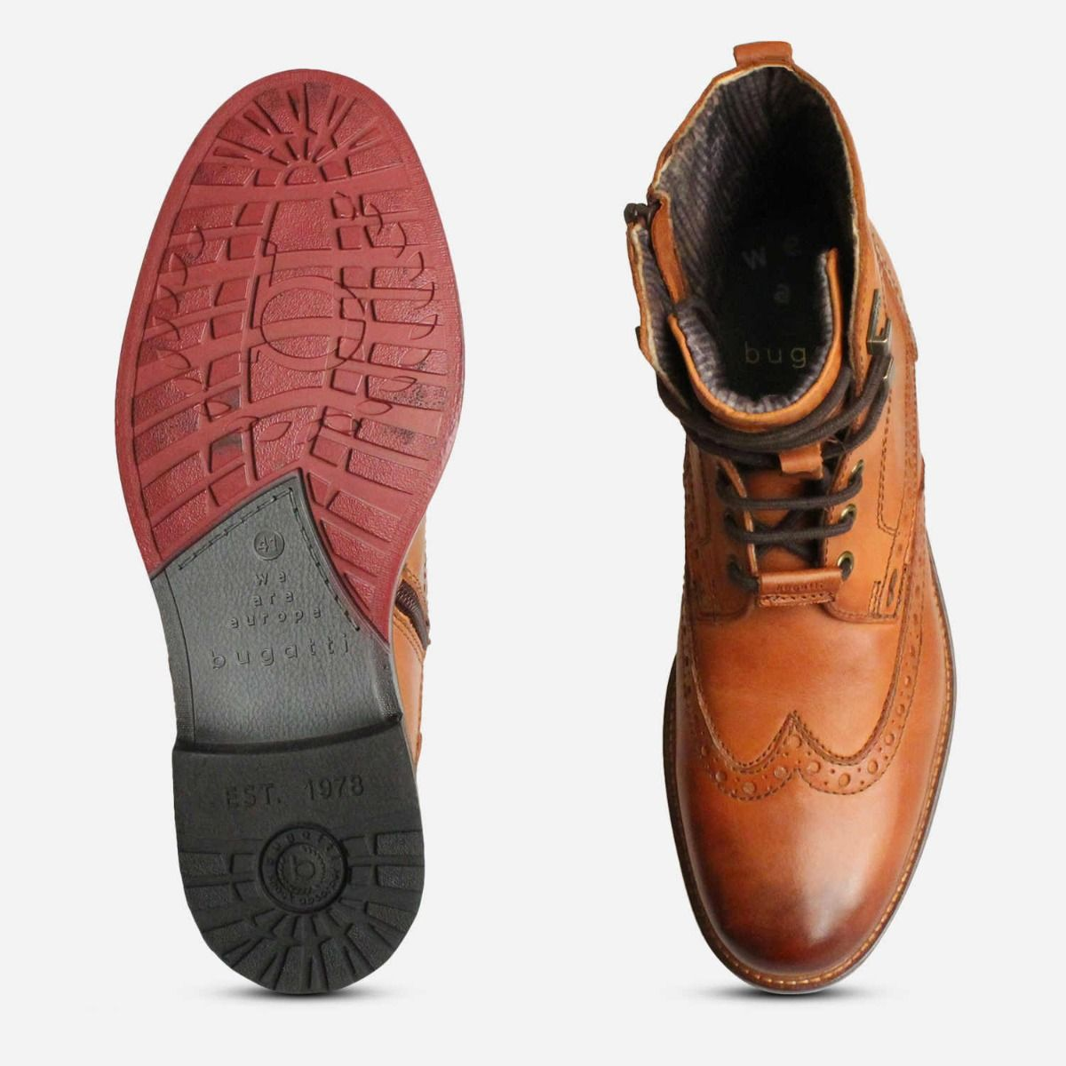 Bugatti Urban Trekking Zip Boot in Light Brown Leather