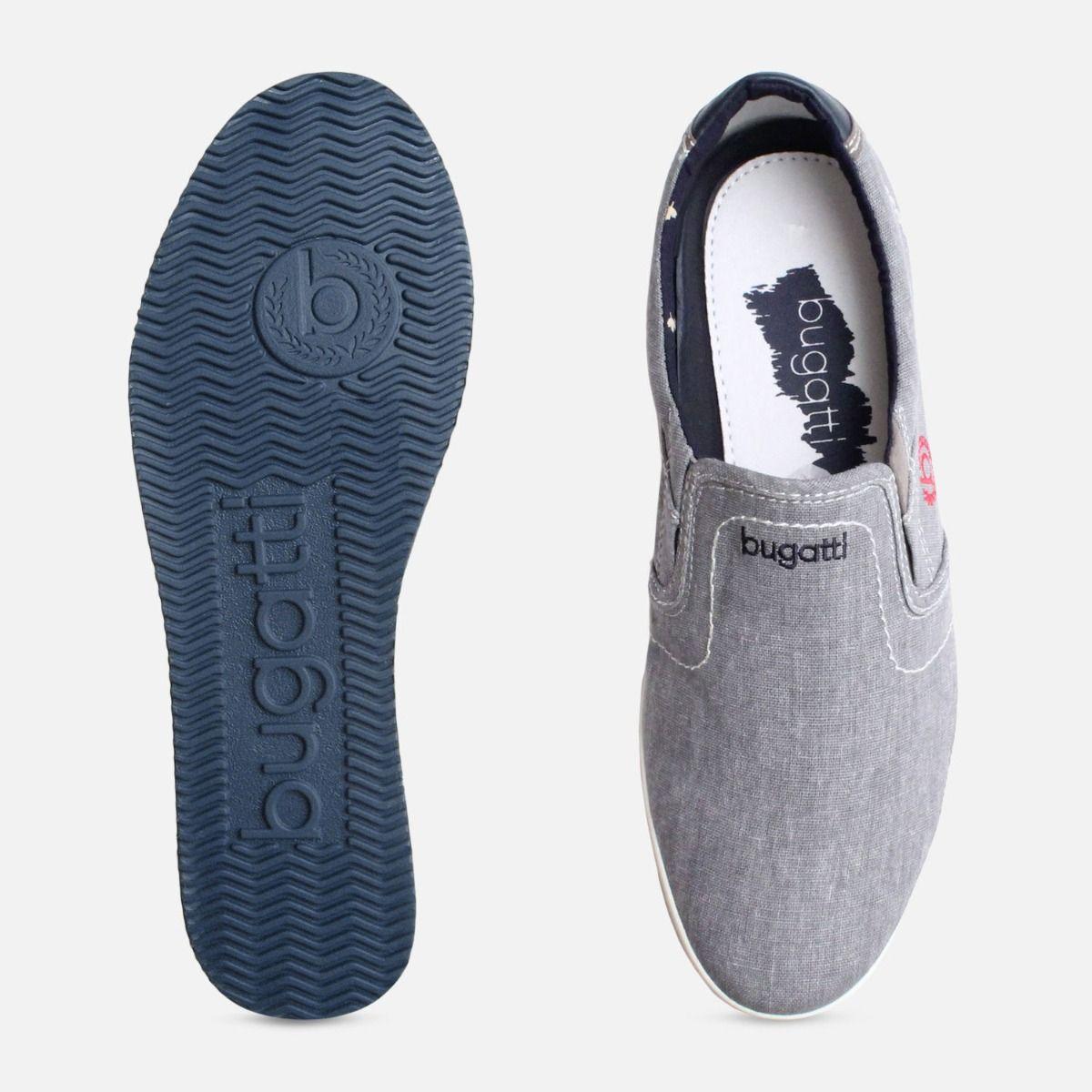 Exclusive Grey Canvas Plimsoll by Bugatti