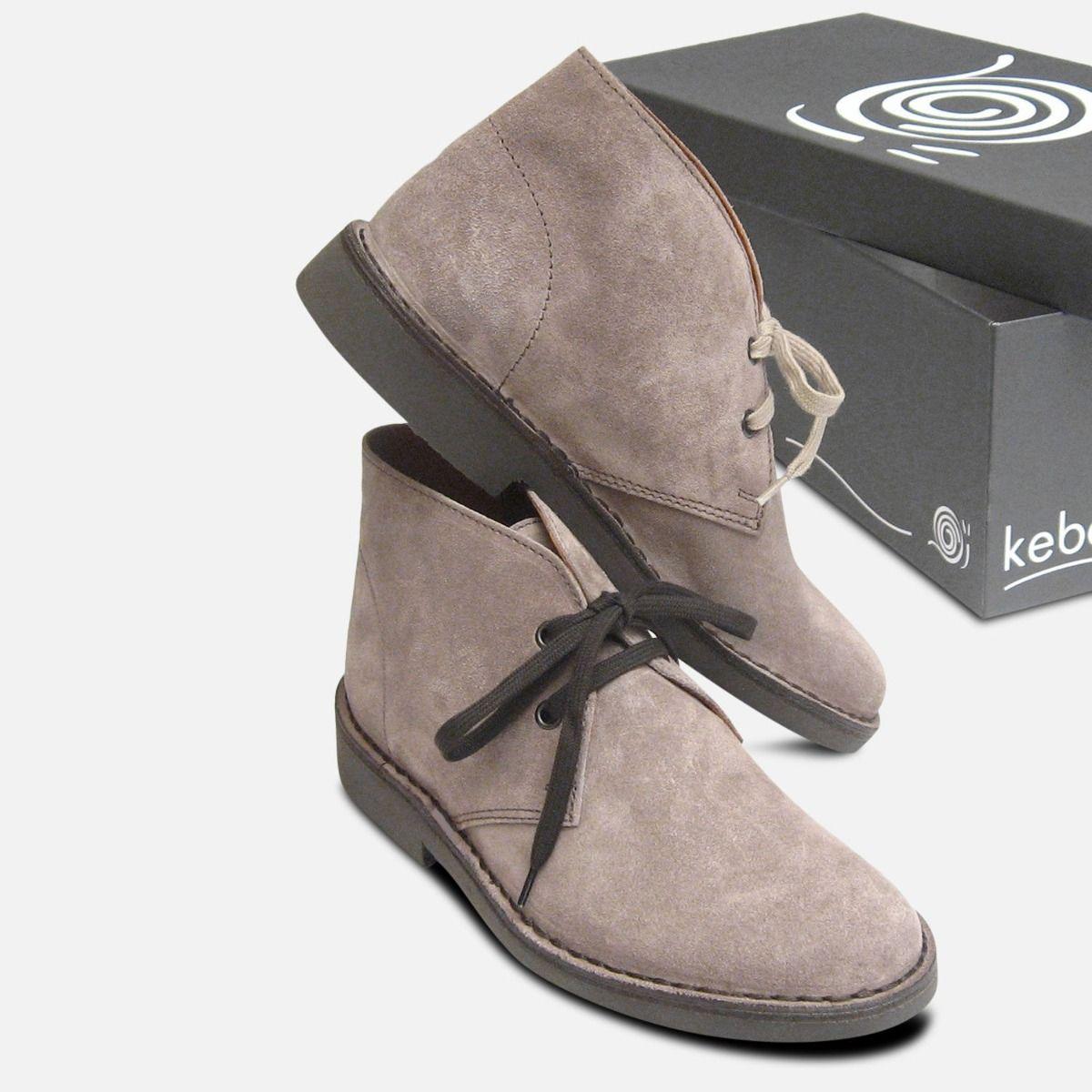 Light Grey Suede Italian Desert Boots by Arthur Knight
