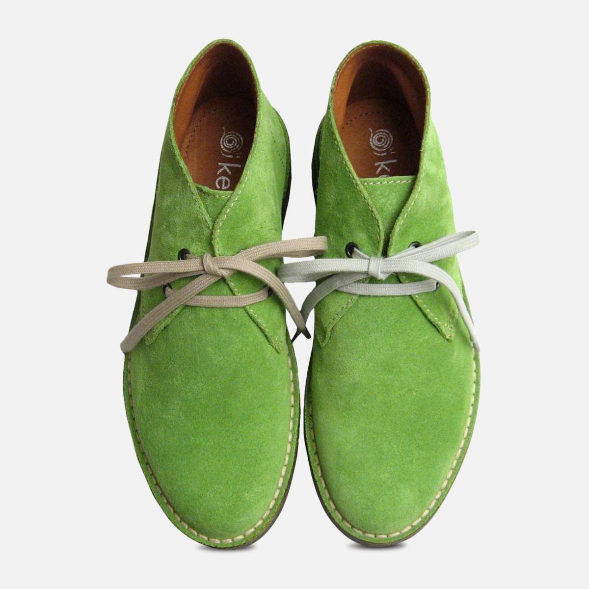 Lime Green Suede Italian Arthur Knight Desert Boots