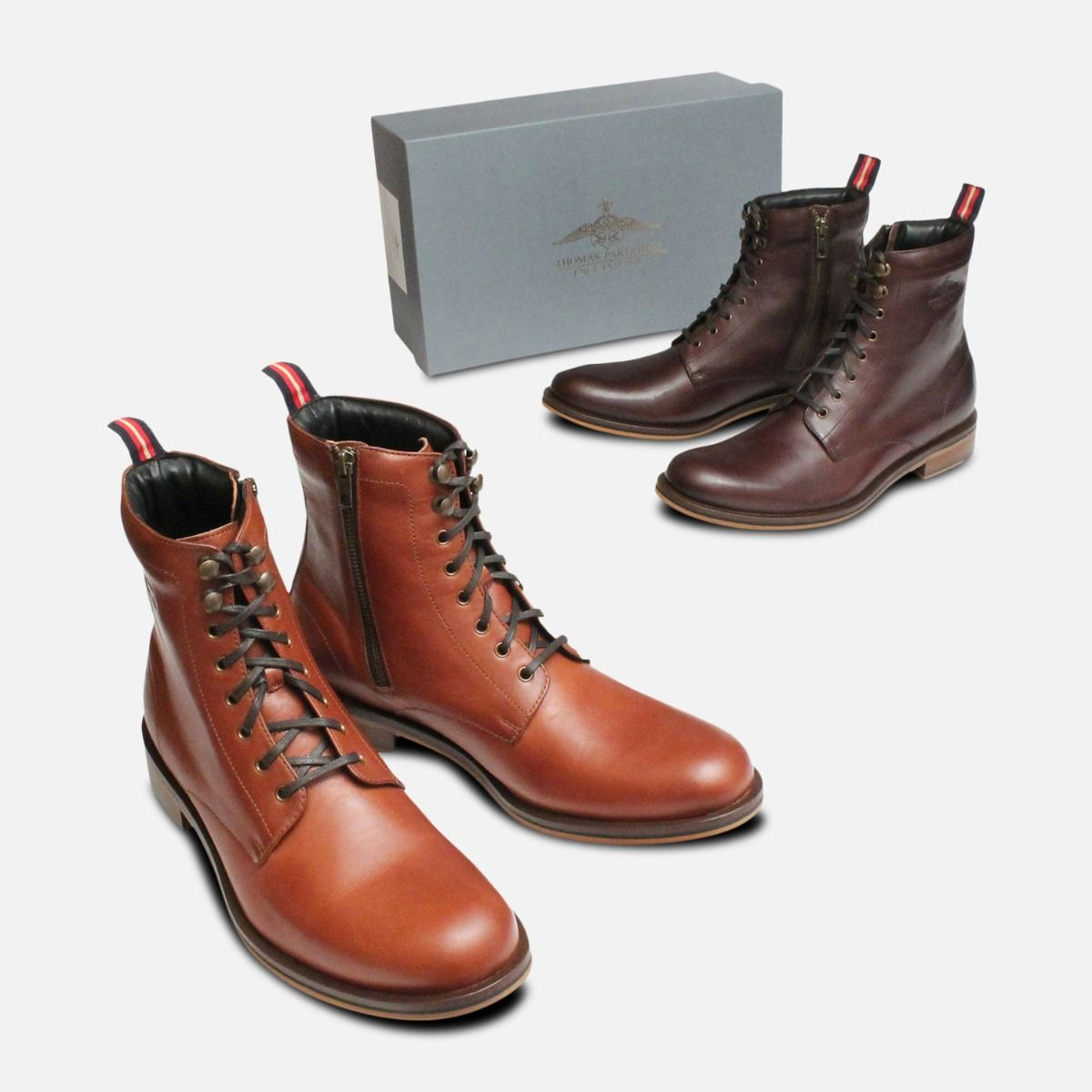 Thomas Partridge Mens Sergeant Boots in Chestnut