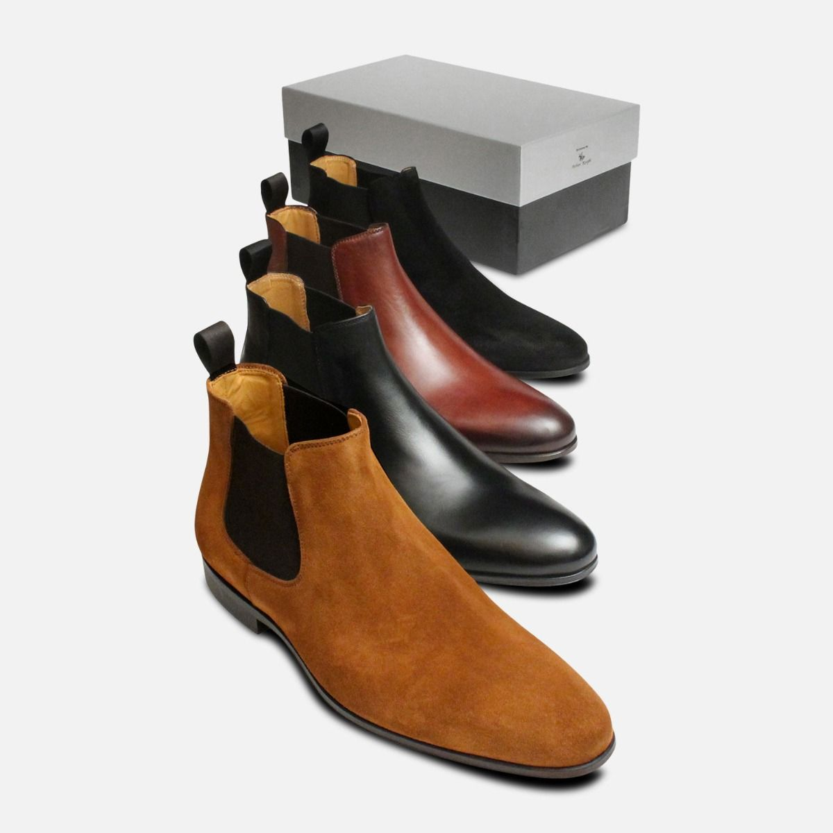 Beatle Boots in Black Suede for Men by Arthur Knight