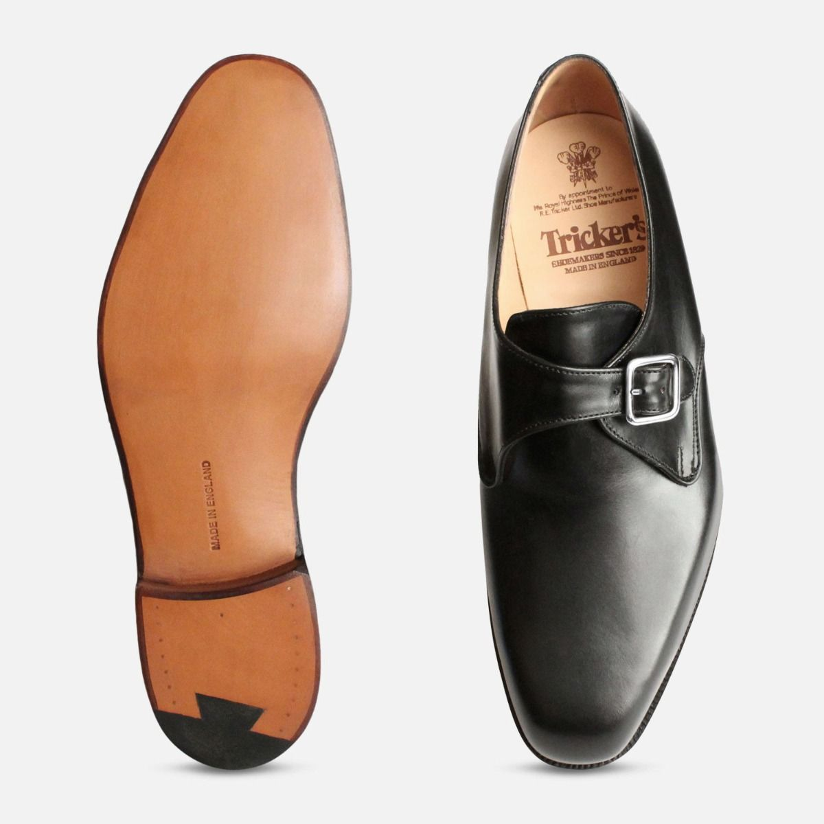 Mayfair Black Buckle Monk Trickers Shoes