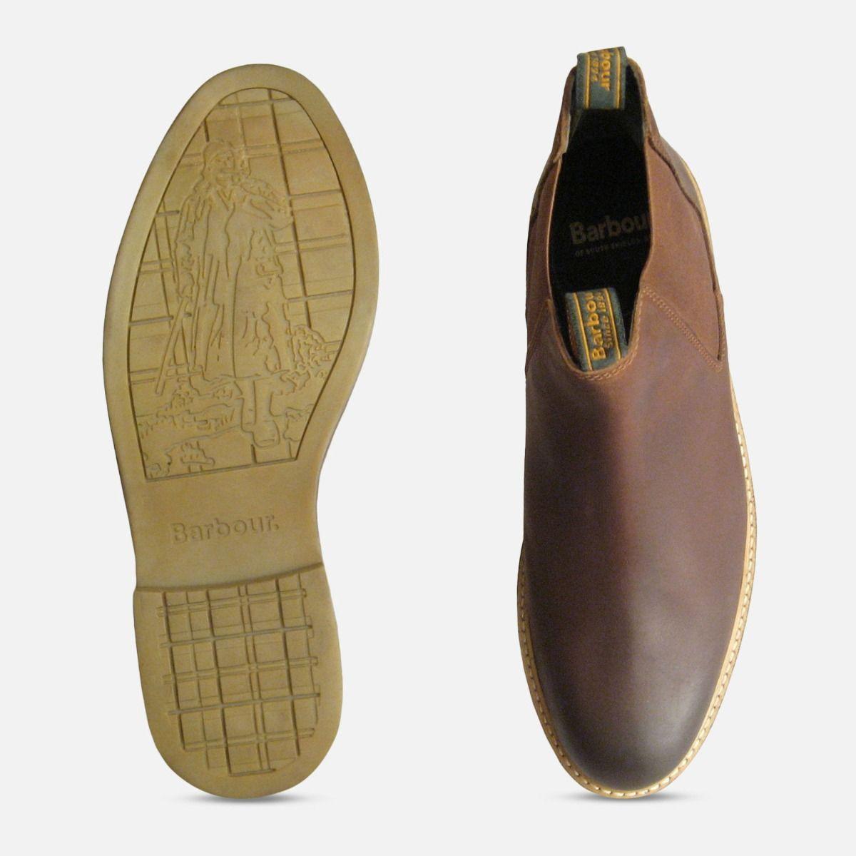 Barbour Farsley Waxy Tan Chelsea Boots