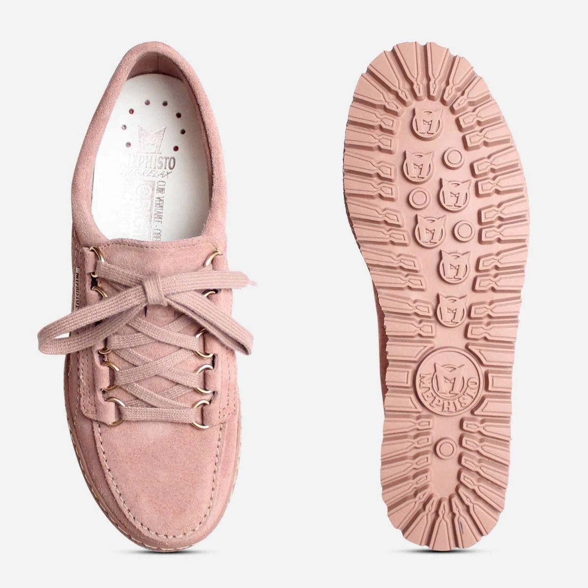 87f63cc0ccb87 Mephisto Lady Shoes in Pastel Pink Suede Leather