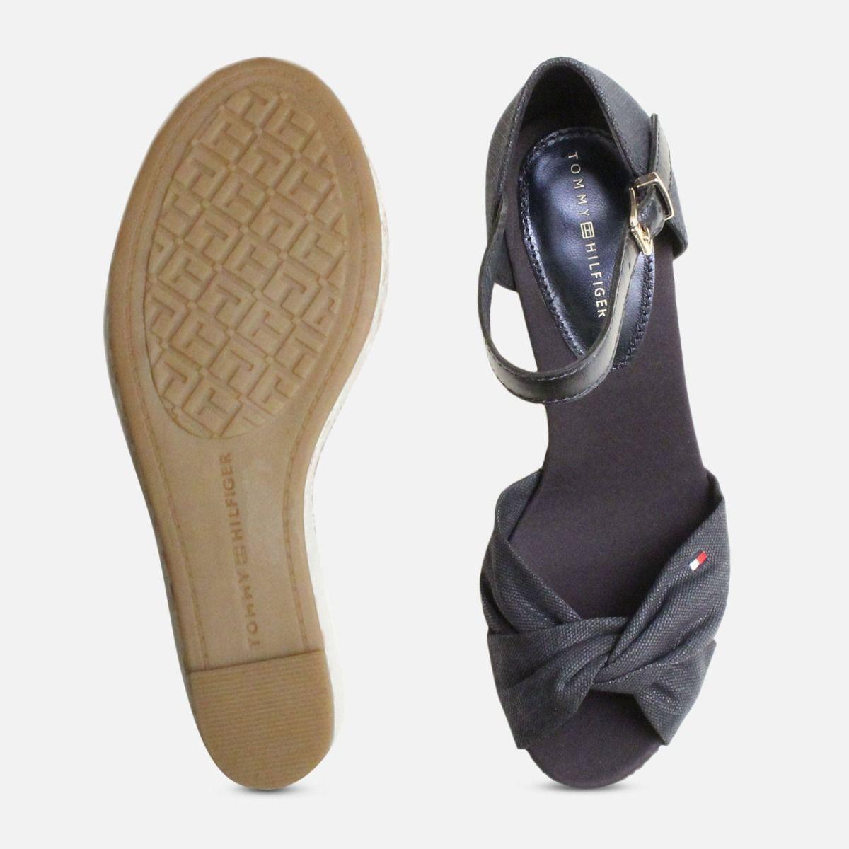 Metallic Navy Blue Tommy Hilfiger Elena Platform Sandal