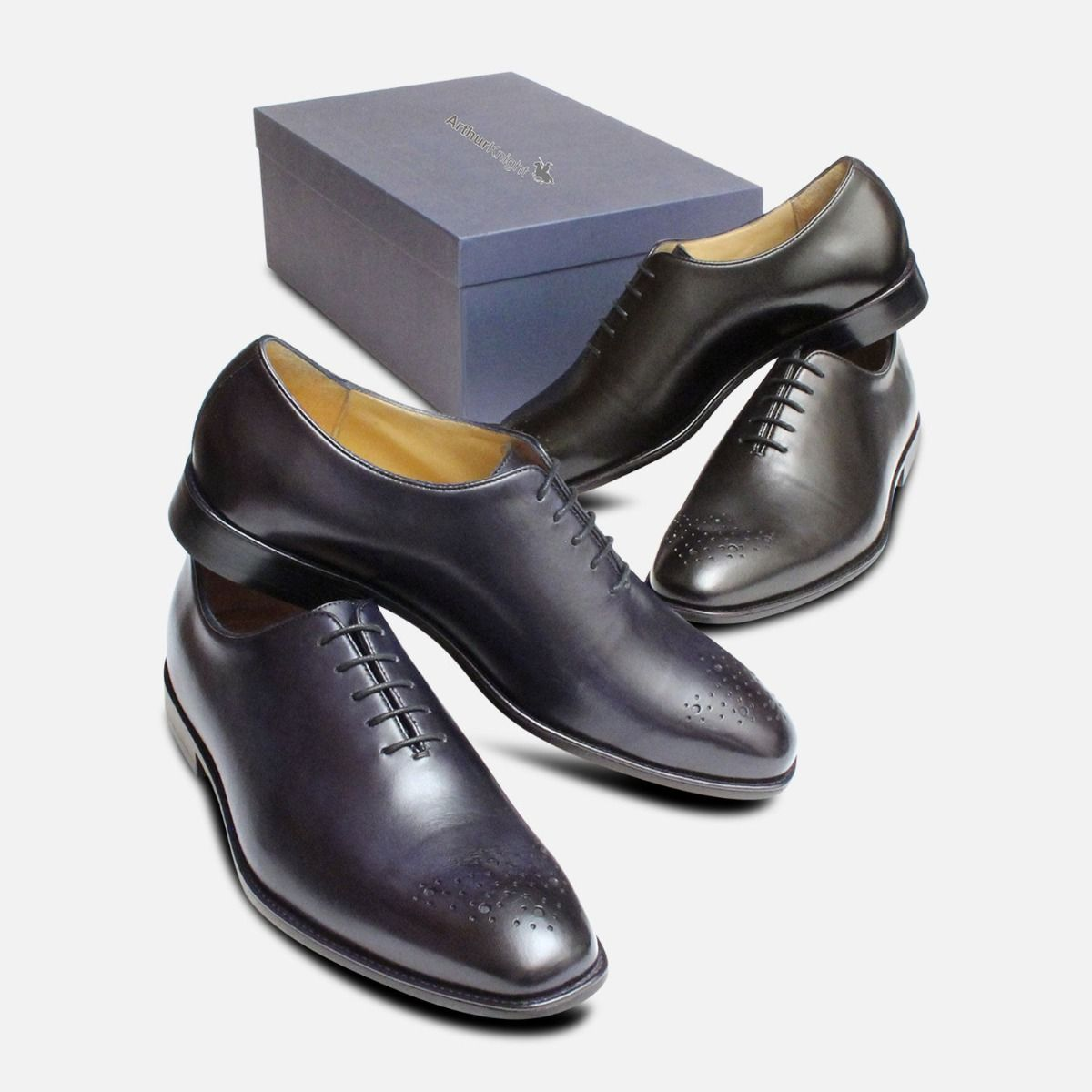 Wholecut Oxford Brogue Navy Blue Shoes