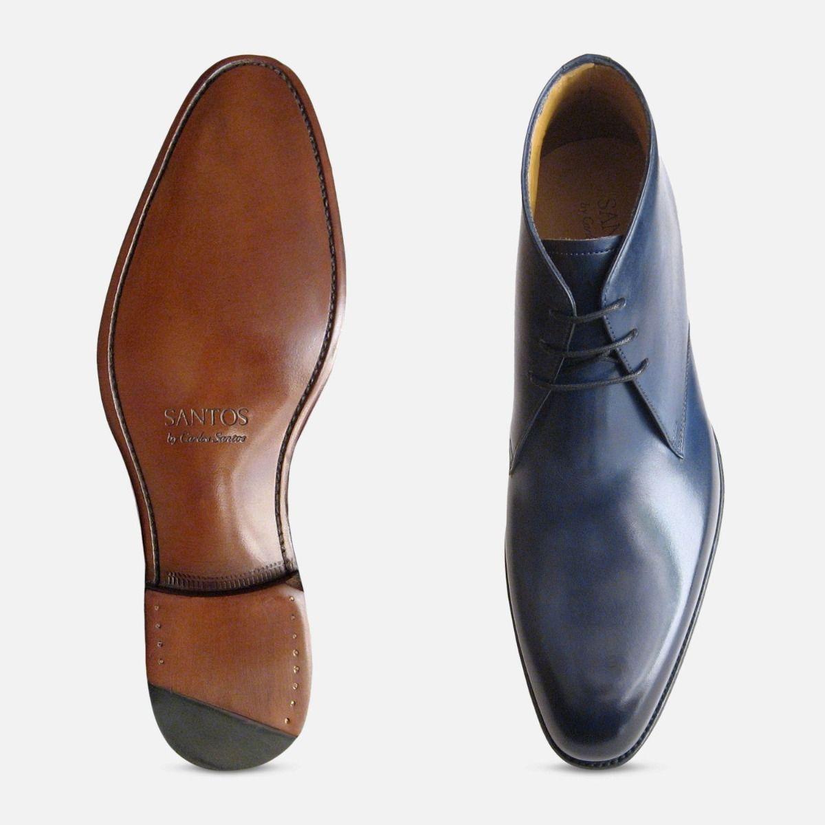 Royal Navy Blue Carlos Santos Chukka Boots